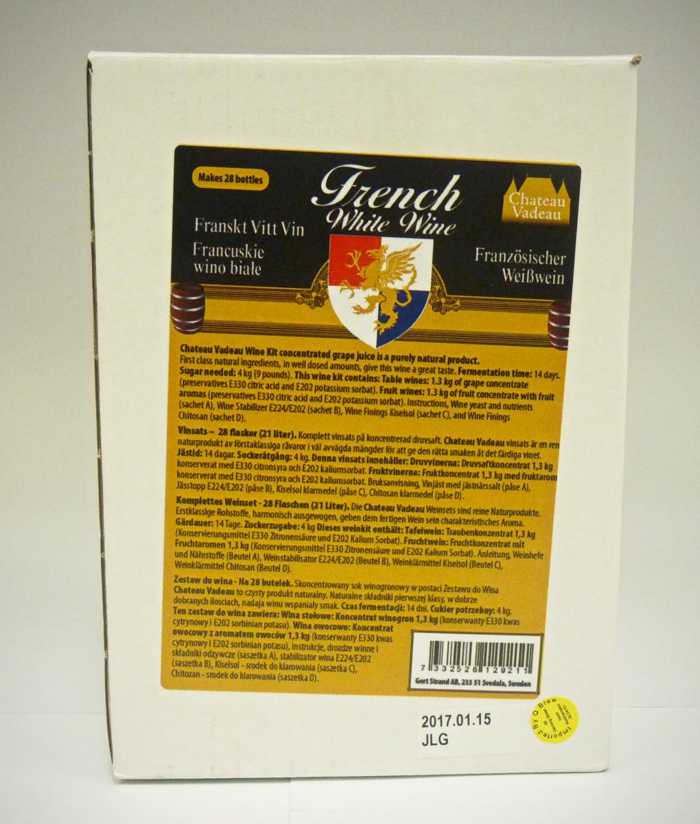 Chateau Vadeau French White Wine Kit