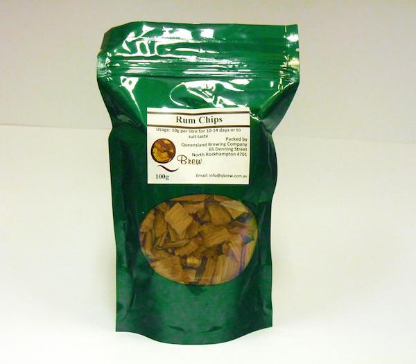 QBrew Rum Chips 100g 1